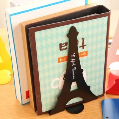 에펠탑 L자형 북엔드 책꽂이 2p(블랙)