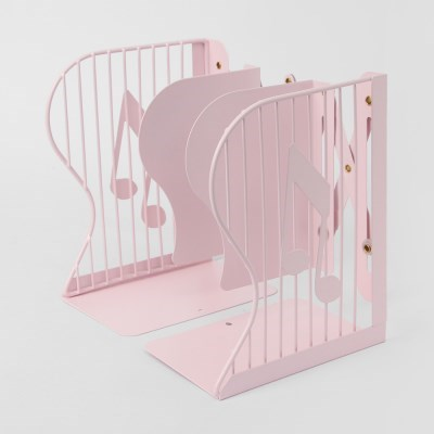 음표 접이식 책꽂이(핑크)