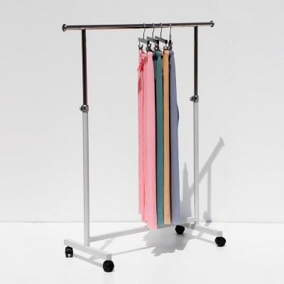 지엔 원룸 사무실 옷가게 튼튼한 스텐 철제 행거 이동식 옷걸이