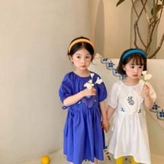 5월소녀꽃자수셔링원피스
