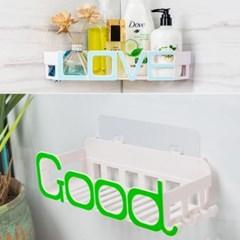 욕실 알파벳 접착 수납 선반