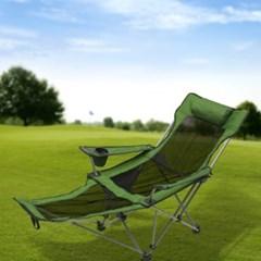 풋레스트 각도조절 접이식 캠핑의자(메쉬+그린)