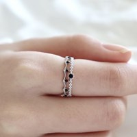 [Silver925] Gemstone lace ring_(1563151)