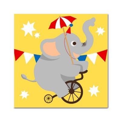 DIY 페인팅 - 서커스 코끼리 PAD04 (25x25)_(1625596)