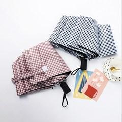 센스팟 체크무늬 3단 양우산
