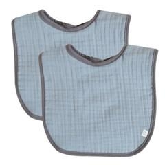 삼중양면거즈 턱받이 2개세트 모음 구성 아기 초기이유식 준비물