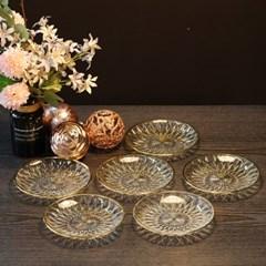 부라노 리얼골드 15cm 크리스탈 접시 6Pcs