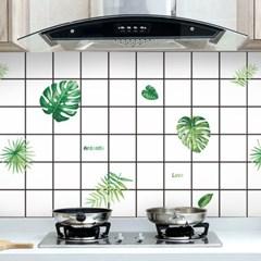 깔끔주방 오염방지 시트지(3Mx60cm) (나뭇잎)
