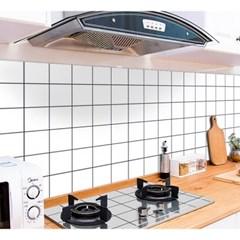 깔끔주방 오염방지 시트지 2p세트(90x60m) (체크)