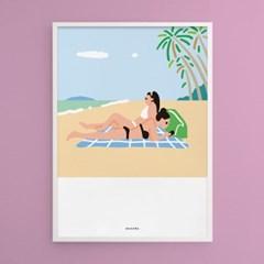 그 여름 바다2 M 유니크 인테리어 디자인 포스터