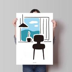 슬로우 커피2 M 유니크 인테리어 디자인 포스터 카페