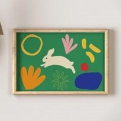 Love Bunny green A3 B2 아트포스터
