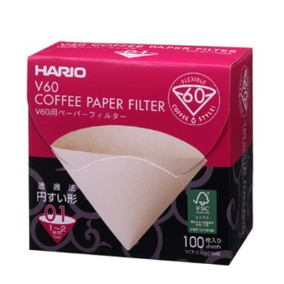 하리오 박스 커피필터 VCF01Y 옐로우 100매_(1531611)