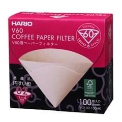 하리오 박스 커피필터 VCF02Y 옐로우 100매_(1531610)
