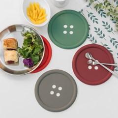 국산 실리콘 단추 주방 테이블 식탁 냄비받침대
