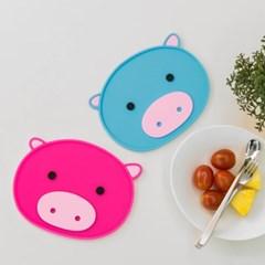 국산 실리콘 돼지 주방 테이블 식탁 냄비받침대
