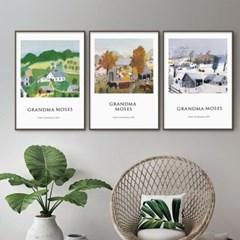 퍼니즈 그랜마A 포스터 1+1+1 3장세트 (A3사이즈) /명화 작품