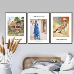 퍼니즈 칼라르손A 포스터 1+1+1 3장세트 (A3사이즈) /명화 작품