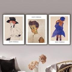 퍼니즈 에콘실레A 포스터 1+1+1 3장세트 (A3사이즈) /명화 작품