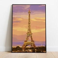 플레이어바웃 명화그리기 노을과 에펠탑 캔버스페인팅 DIY