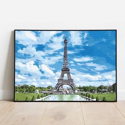 플레이어바웃 명화그리기 화창한 에펠탑 캔버스페인팅 DIY