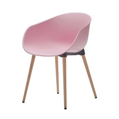 생활지음 루미 4LEGS 인테리어 의자 RP(로지핑크)