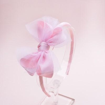 뮤지컬 핑크리본 아동 머리띠 1P