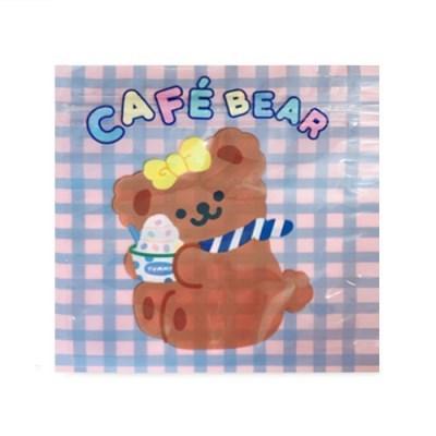 카페 곰돌이 지퍼백 (10개)