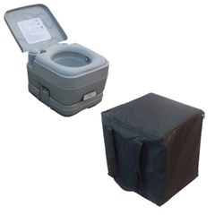 올뉴 2점 배출식 수세식화장실 가방포함 풀세트10리터