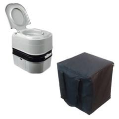 올뉴 2점식24리터 수세식화장실 전용가방포함 풀세트