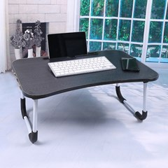 엔조이 접이식 좌식 책상 A-2(블랙우드) 태블릿거치 테이블