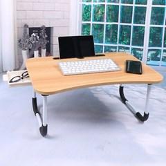 엔조이 접이식 좌식 책상 A-4(우드) 서랍형 앉은뱅이책상
