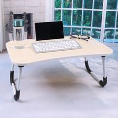 엔조이 접이식 좌식 책상 A-6(라이트우드) 태블릿거치 미니테이블
