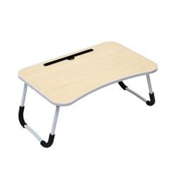 엔조이 접이식 좌식 책상 A-4(라이트우드) 공부 인강 서랍형테이블
