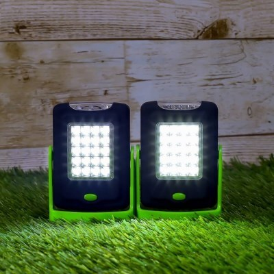 360도회전 후크 LED 캠핑랜턴 2p세트(그린) 손전등