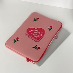 unbirthday/tulip laptop pouch