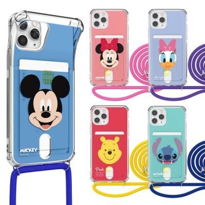 디즈니 페이스 투명 카드 목걸이 케이스 아이폰_(3060887)