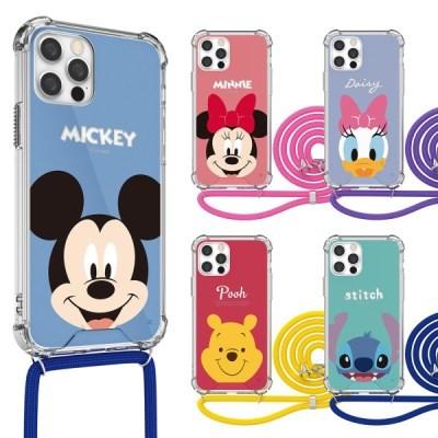 디즈니 페이스 투명 강화 목걸이 케이스 아이폰_(3060890)