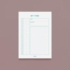 [어른문방구] MY TIME 심플 메모지 / 시간계획관리 스케쥴러 플래너