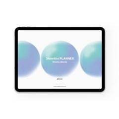 플랜커스 3months 디지털 위클리 플래너