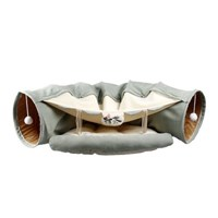 강아지 고양이 숨숨 편안한 침대 터널 (녹차)
