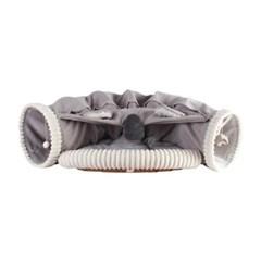 강아지 고양이 숨숨 안락한 침대 터널 (그레이)