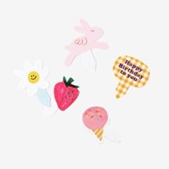 분홍소풍 픽 셋트 (2셋트,낱개로 10개)