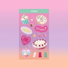 [쏘슬러시] 콜라주 스티커 - Sweets