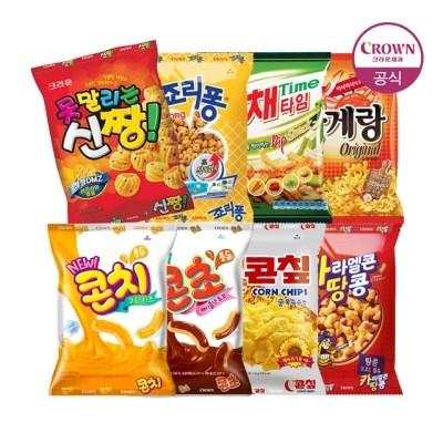 크라운 신짱/죠리퐁/카땅/콘칩/콘치/콘초/꽃게랑/야채타_(2261359)