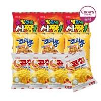 크라운  콘칩44gx4+신짱38gx3+죠리퐁50gx3 (총10개)_(2261147)