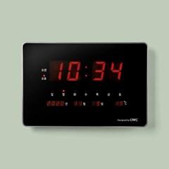 오리엔트 OWC시계 OTM907DS 클린 LED 캘린더 탁상겸용 디지털벽시계