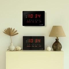 오리엔트 OWC 클린 LED 캘린더 탁상겸용 디지털벽시계 2종 택1