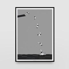 일러스트 포스터 / 인테리어 액자_splash 02