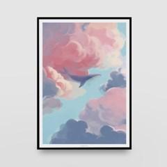 일러스트 포스터 / 인테리어 액자_pink clouds 04
